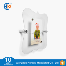 Small picture perspex wall hanging foto frame with single panel