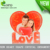 Personalized Sublimation new heart shape love printing crystal ornament