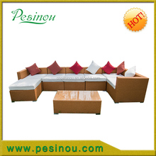 Quickest Delivery Time Customized Design Outdoor Rattan Sofa, Cheap Rattan Garden Sofa