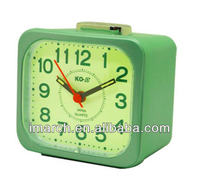 Useful home decorative table clocks lighted with bell function