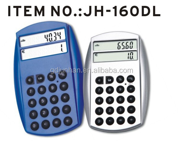 Cell phone type currency converter with calculator