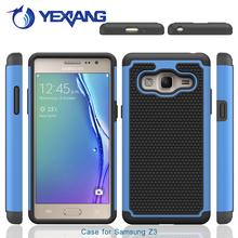 PC Silicone hybrid combo rugged shockproof case for Samsung galaxy z3 football textures back cover