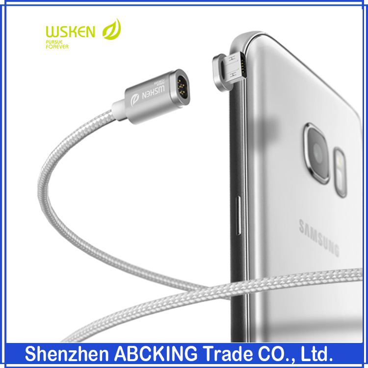 Wsken X- <strong>Cable</strong> Mini2 Nylon Braided line Magnetic Data <strong>Cable</strong> Charger Andriod <strong>Cable</strong> For Huawei Andriod USB 2.O Samsung HTC