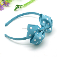 decorating hair band/elastic hair ribbon trim/stylish hair dot bows