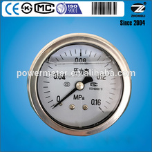 63mm High quality best price bourdon tube pressure gauge manometer with CE