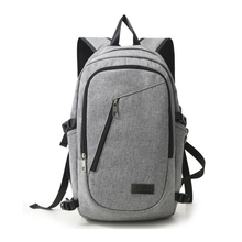 Large Capacity 40L Water Resistant Polyester Laptop Bag Backpack with USB Charging Port and Lock Fits Notebook Backpack