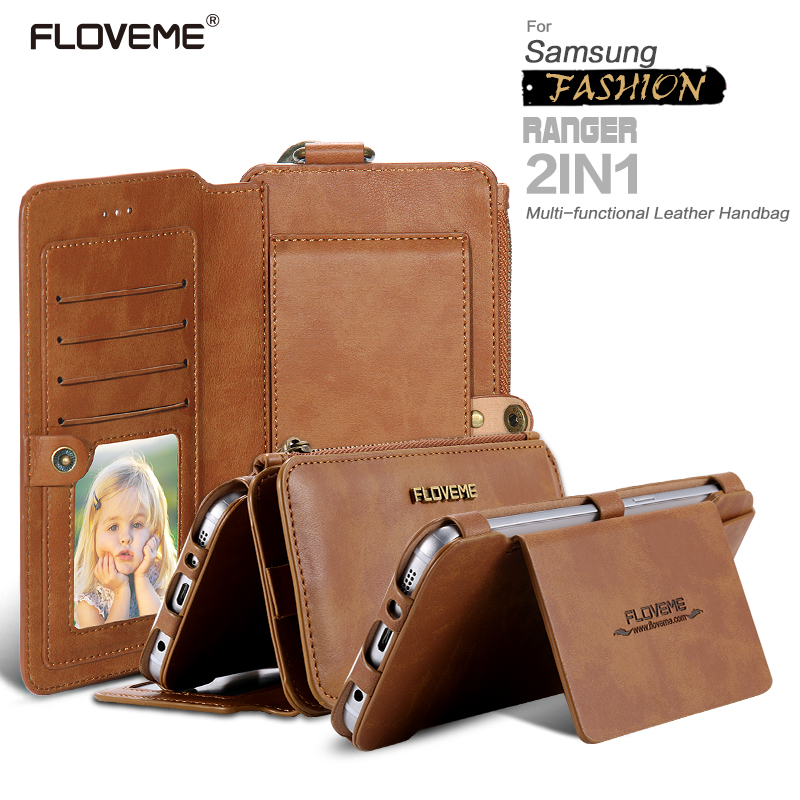 FLOVEME 18 Card Slot Multi-function PU Leather Flip Phone Wallet Cover Case For IPhone 6 6 Plus Note 3/4 S7edge note 5 s8