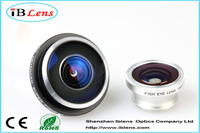 Mobile phone accessories circle cilp 235 degree super fisheye lens for camera