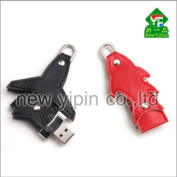 New Yipin Newest Design leather USB flash drive