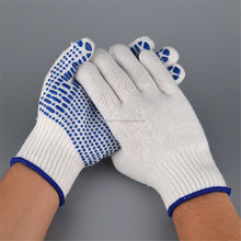 China Vendors Outdoor PVC Blue Dotted Working <strong>Safety</strong> Gloves For Garden