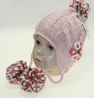 Cute Girl pigtails hat acrylic earflap knit hat knitted winter hat