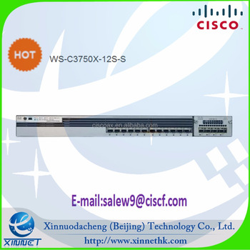 New Cisco Catalyst 3750X-12S-S - switch - 12 ports -WS-C3750X-12S-S