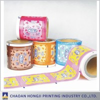 logo printed metallized aluminum laminated plastic bopp film for packaging