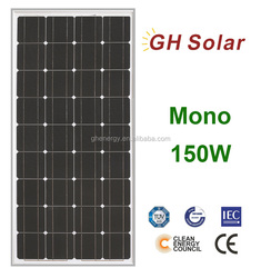 best price sun earth solar panels 150W mono solar panel prices m2