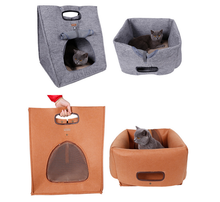best selling Convenient carry cat cave pet bed house cat cocoon bed in stock