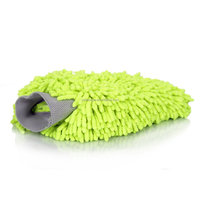 colorful microfiber chenille car wash mitt