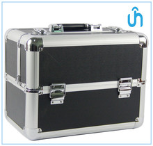 wholesale Black printing cosmetic case/aluminum cosmetic case/Carry All Makeup Train Case 78203G