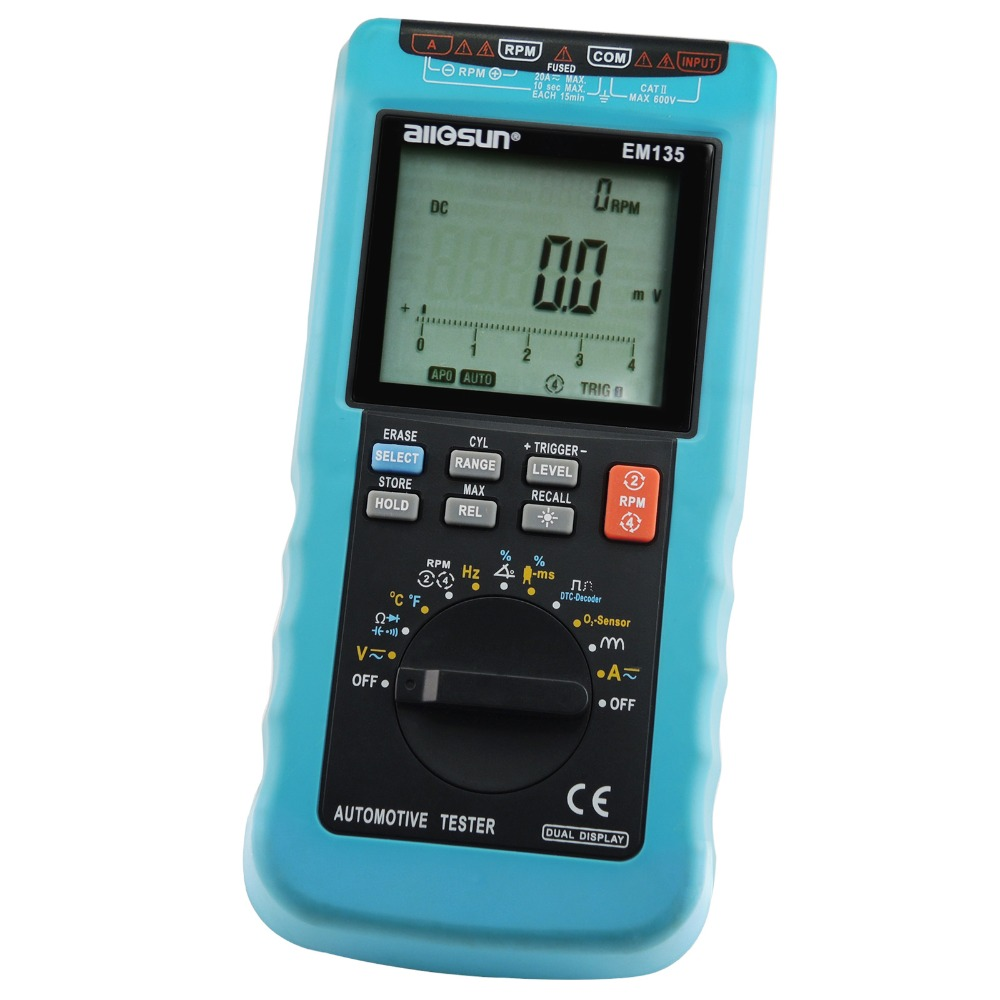 Multimeter Scan Car Engine Analyzer RPM Voltage Current Dwell Angle