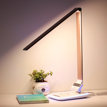 Led table lights wireless charging for mobile and power bank desktop lamp
