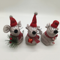 Hot sale rat designed felt christmas ornament