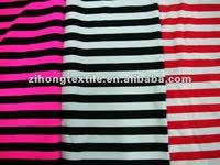 stripe print nylon spandex fabric