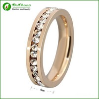 Newest Vogue Design Natural Pink Tourmaline 18K Solid Gold Ring Designs for Girls J3-0100