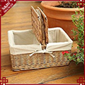 S&D Picnic Basket for Camping BBQ Outdoor Sports (Natural colour)