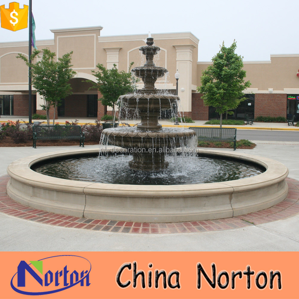 factory price large outdoor stone fountain water feature NTMF-SA003L