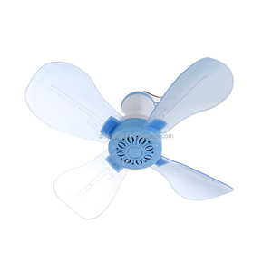 china cheap price whole sale Modern Design 220V 13inch 4balde plastic mini ceiling fan for camping