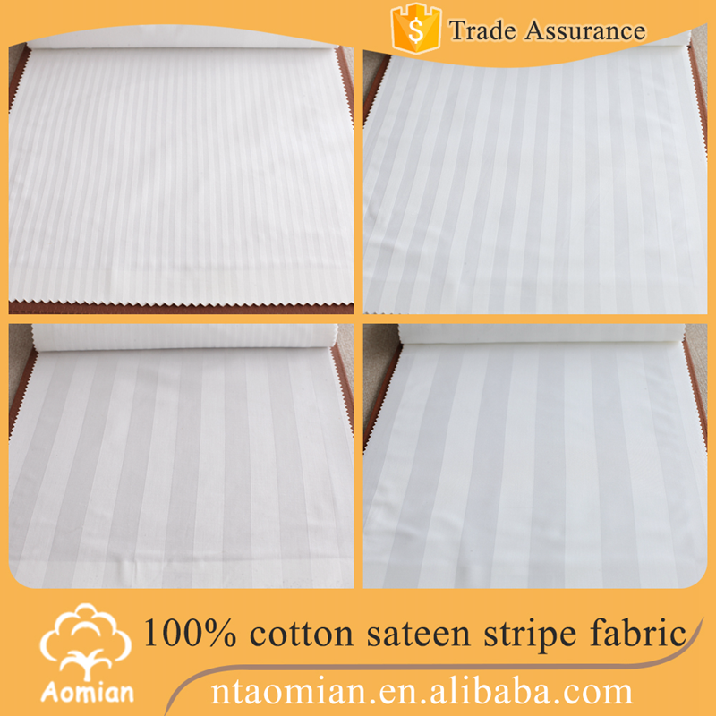 high quality 1cm or 3cm satin stripe fabric for making bedding set
