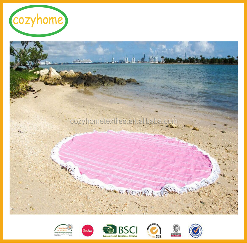 Turkish Peshtemal Round Beach Towel Thin Quick Dry Camping Bath Sauna Beach Gym Yoga Pool Bathrobe Fouta Circle Beach Towel