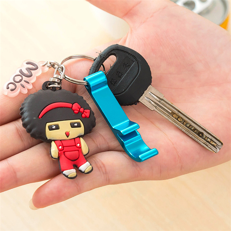Low price Promotional gifts Aluminum alloy keyring bottle opener