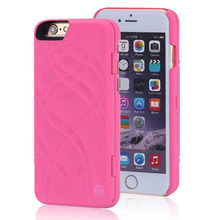 Fashion Lady 3D Water Flip Wallet PU Leather Mirror Case For iPhone 6 6S