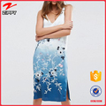 Dip Dye Floral Embroidered Slip fashion beach holiday summer Dresses for women