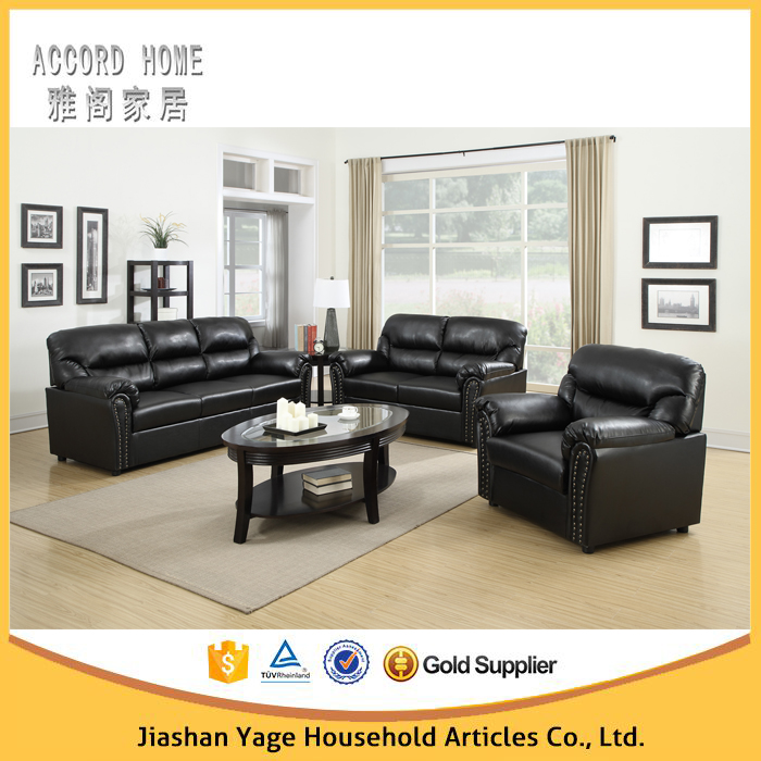 living room furniture black leather sofa set buy living room sofa