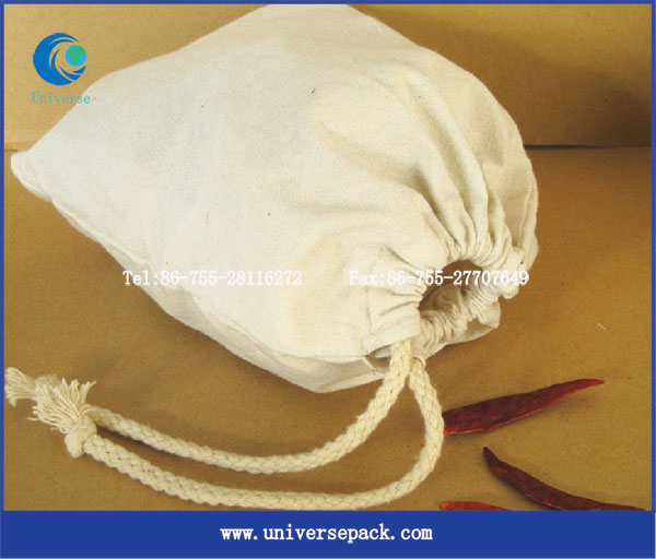 Shining Cotton muslin drawstring pouch