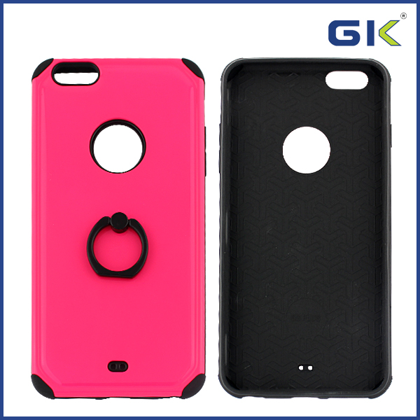 [GGIT] Fashion Shockproof Armor With Ring Buckle 2 in 1 TPU+PC Combo Case For IPhone 6 Plus