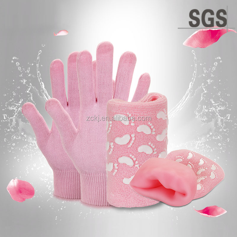 2016 Spa Set ,Gel Gloves And Gel Socks For Skin Care,Anti-Dry and Exfoliating ,Whitening