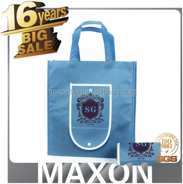 custom size and logo silk screen printing non woven promotion shopping bag with handle