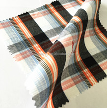 New design cotton plaid stock lot yarn dyed fabric