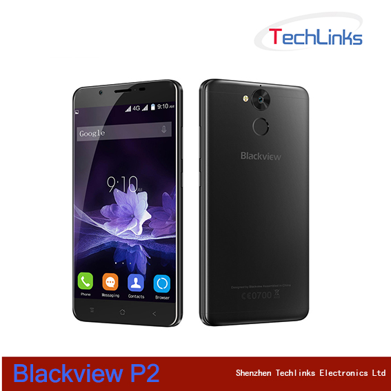 Original Blackview P2 Smartphone Android 6.0 MTK6750T Octa Core Mobile Phone 4GB RAM 64GB ROM 6000mAH Fingerprint 4G Cell Phone