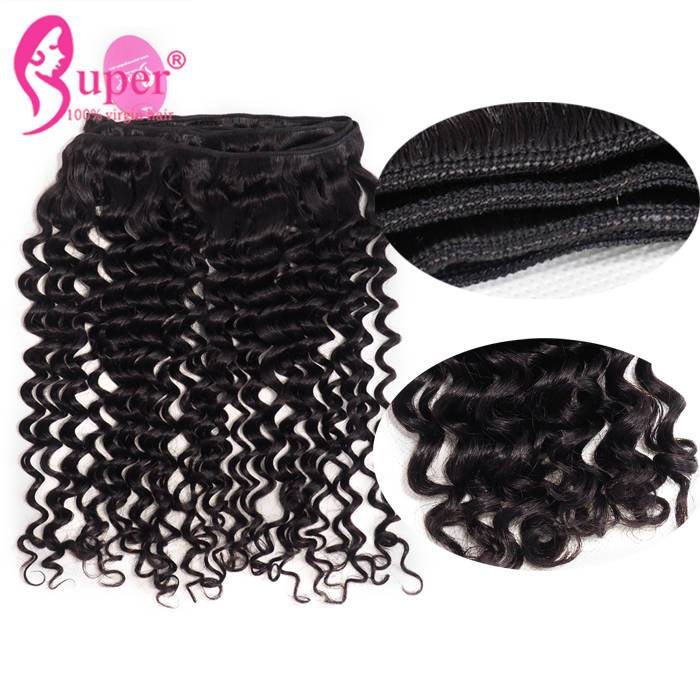 Guangzhou Hot Beauty Tight Curl Mink Raw Virgin Extension Human Hair Products Weavon Set One Donor