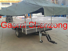 flat luggage trailer for sale in high quality