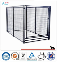 Large outdoor galvanized heavy-duty metal fence dog kennels and runs
