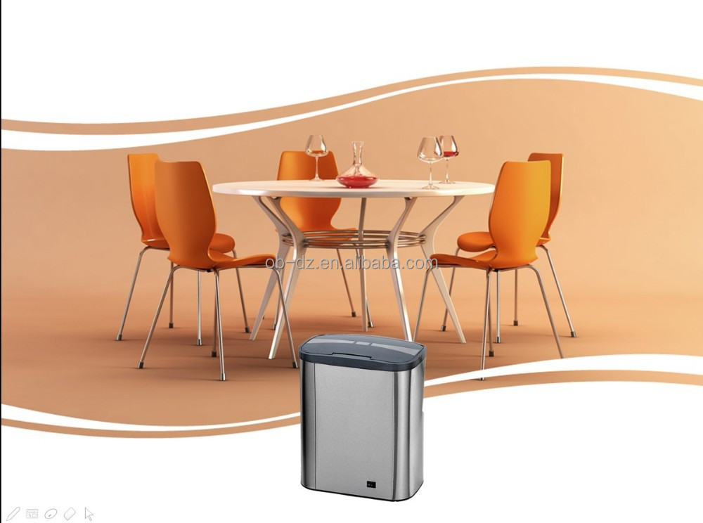 Hot indoor small size portable 8 liters sensor dustbin used on table