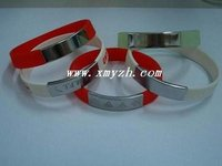 Soft Silicone Bracelet With Metal Decoration