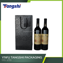 Popular customized size paper carry gift package wine bottle bagS