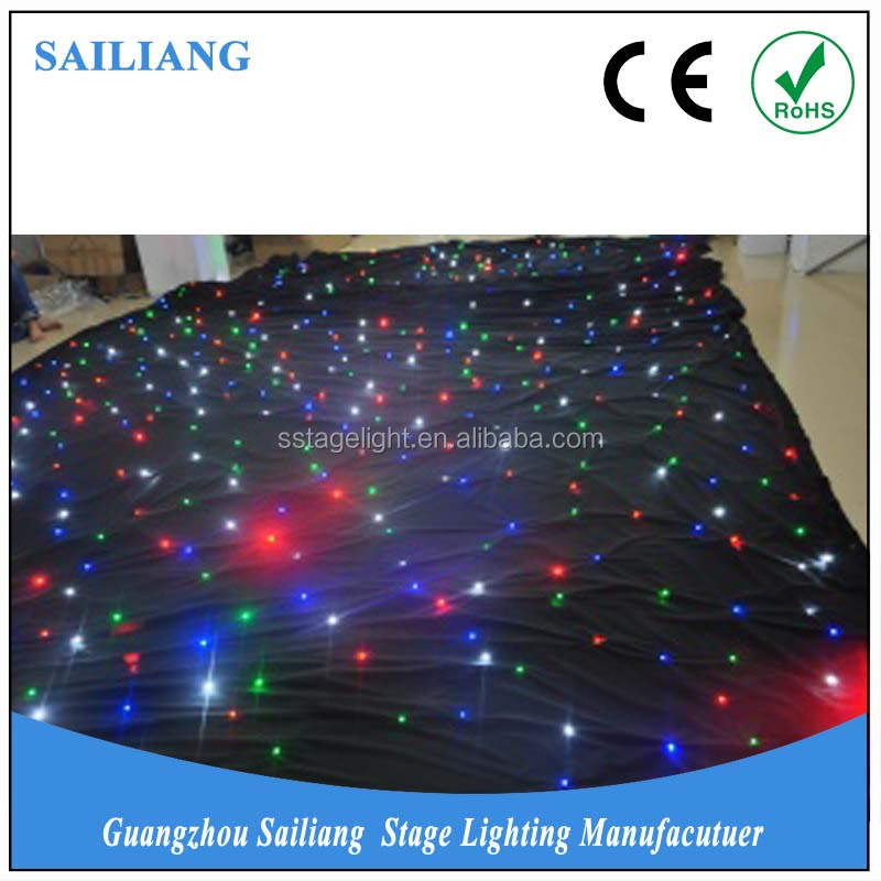 sailiang 2017 new hot products high quality custom twinkly RGBW fabric star led cloth,flexible led curtain,led curtain