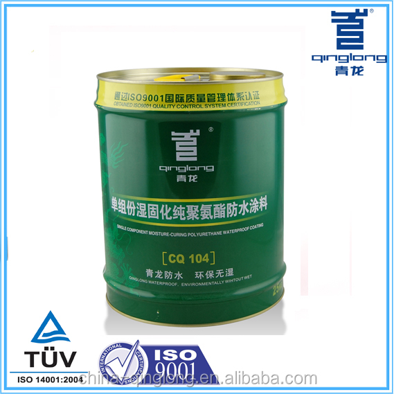 Qinglong CQ104 100% polyurethane waterproof coating for washroom