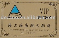 PVC VIP membership card with gold hot stamp